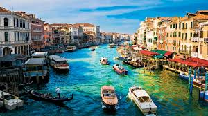 download wallpaper 1920x1080 italy houses river sky full hd