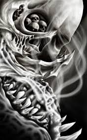 skull smoke by inkflametattoo on deviantart