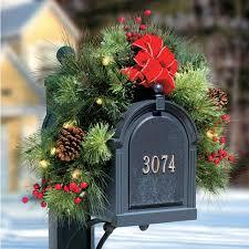 pre lit classic lighted mailbox garland improvements