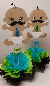 mustache baby shower decorations s creations baby shower theme centerpieces
