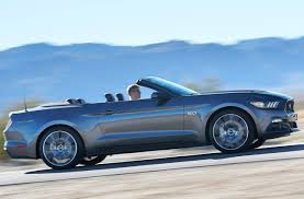 price of 2015 mustang convertible 2017 ford mustang convertible exterior side view silver color