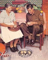 norman rockwell thanksgiving and peeling potatoes