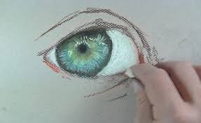 how to paint a realistic eye with pastels
