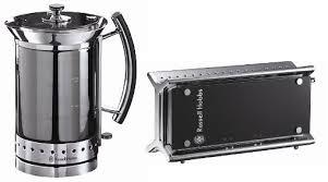 Black Kettle Toaster Set Russell Hobbs Glass Matching Kettle 14355 U0026 2 Slice Toaster 14356