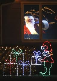 designers of christmas displays add hologram helicopter ralphie