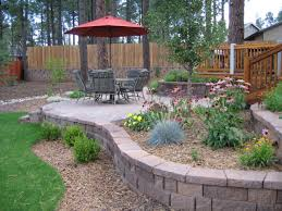 back yard landscaping with garden using garden edging then also