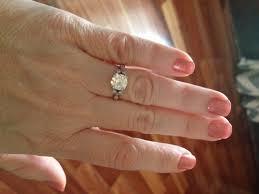 2 carat ring 1 5 2 ct rings on size 5 finger