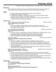 Engineering Technician Resume Sample by Electronics Engineering Resume Samples