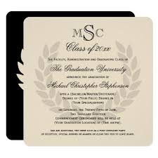 college graduation announcement template wreath monogram square classic college graduation card college