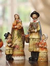 thanksgiving pilgrim figurines 10 inch fall thanksgiving woman pilgrim figurine set fall decor