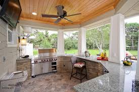kitchen beautiful outdoor kitchen design with concrete stone and