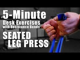 leg exercises at desk how to 5 minute desk exercises seated leg press youtube