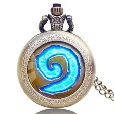 necklace case images Wow hearthstone theme glass dome case quartz pocket watch necklace jpg