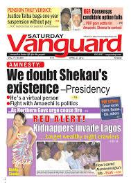 amnesty we doubt shehau u0027s existence presidency by vanguard