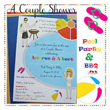 bridal shower invitations wedding shower invitations pool party