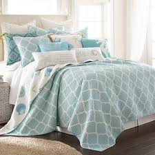 amazon com del ray full queen quilt set white teal cotton home