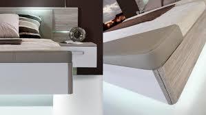 hochglanz schlafzimmer 2 rondino komplettset in sandeiche weiß hochglanz mit led