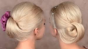 chignon mariage facile a faire en vidéo tuto coiffure cheveux mi chignon bas soirée