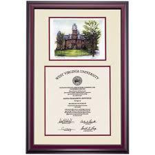 virginia tech diploma frame west virginia premier woodburn color pencil diploma frame