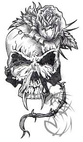 awesome indian skull tattoo design photos pictures and sketches