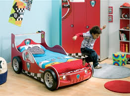 amusing cool kid beds design with red wooden laminate fire truck