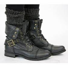 womens combat boots uk womens army style combat worker lace up ankle boots