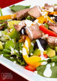 Main Dish Salad - steak salad with blue cheese and avocados favorite family recipes