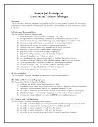 sle accounting resume management accountant description template ideas of sle