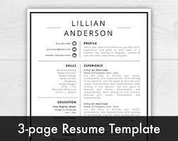 Resume Template Design Free Resume Design Etsy