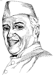 coloring pages of independence day of india first prime minister of india pandit jawaharlal nehru kids portal