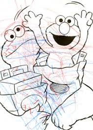 preschool coloring sheets baby cookie monster elmo coloring pages