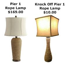 Pier One Floor Lamp Make Your Own Pier 1 Lamp Knock Off