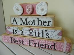 gift wooden stacker mothers are a girls best friend saying and