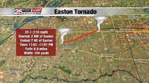 Illinois Tornado Map by Nws Confirms Third Tornado In Central Illinois On Monday Night