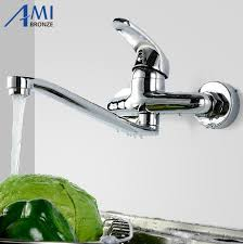 wall mounted faucet kitchen kitchen faucets wall mounted faucet cold and water mop mixer