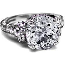 large diamond rings vintage diamond engagement rings polyvore