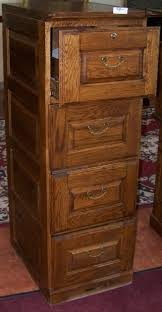 Oak File Cabinet 4 Drawer Stylish Five Section Waterfall Oak Globe Wernicke Barristers
