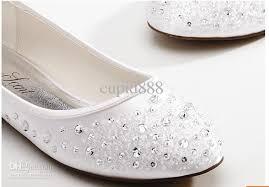 wedding shoes flats 2015 new diamond shoes sweet bead white wedding shoes