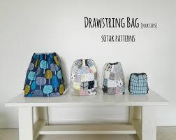 s o t a k handmade drawstring bag in four sizes new pdf pattern