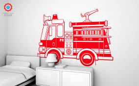 fire truck xxl wall decal nursery kids rooms wall decals boy firetruck wall decals xxl