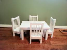 american doll table and chairs and chair set for american doll any 18 inch doll