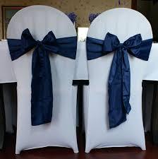 navy blue chair sashes blue chair cover sash chair covers design