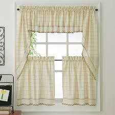 Kitchen Valances And Tiers by Ecru Toast Adirondack Woven Kitchen Tier Curtains Altmeyer U0027s