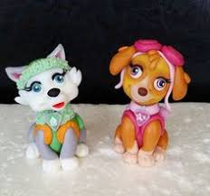paw patrol everest pup handcrafted sugarpaste fondant cake
