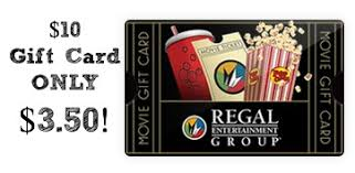 gift card discount discounted regal cinemas gift card 10 gift card only 3 50