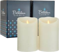 bethlehem lights touch candle set of 2 5 candles in gift boxes