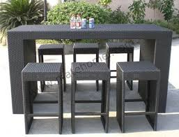 Outdoor Bar Table And Stools Outdoor Bar Patio Chairs Furniture Conversation Sets For 6