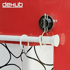 Shower Curtain Suction Cups Vacuum Super Suction Cup Bathroom Rack Shower Curtain Rod Hanging