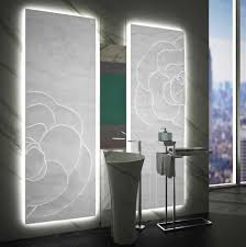 mgm u0027s elegant sculptured backlit white onyx panel and floor