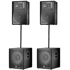 jbl home theater jbl jrx speaker system 2x jrx215 2x jrx218s 2x ss3bk new pro
